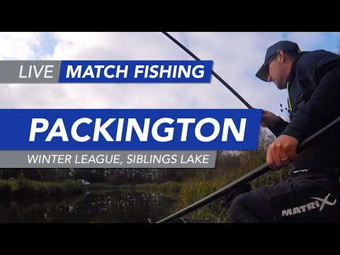Live Match Fishing: Packington Fishery, Winter League, Siblings Lake