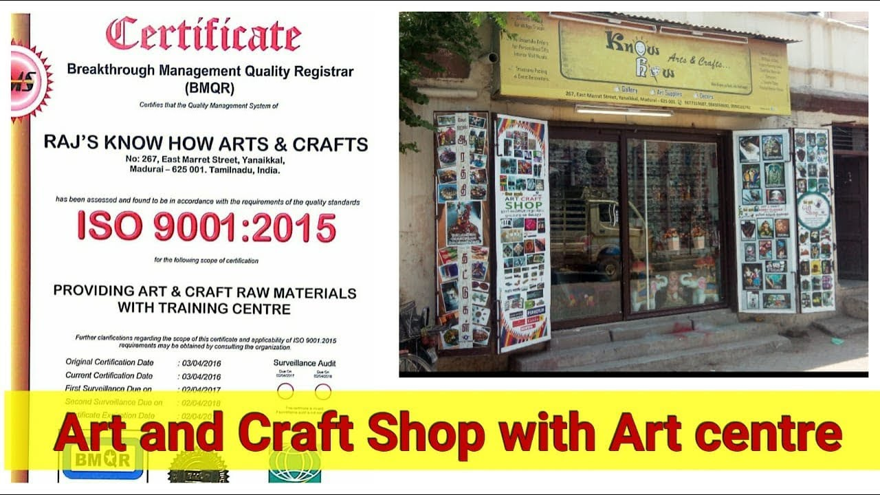 Art And Craft Shop With Art Centre Youtube