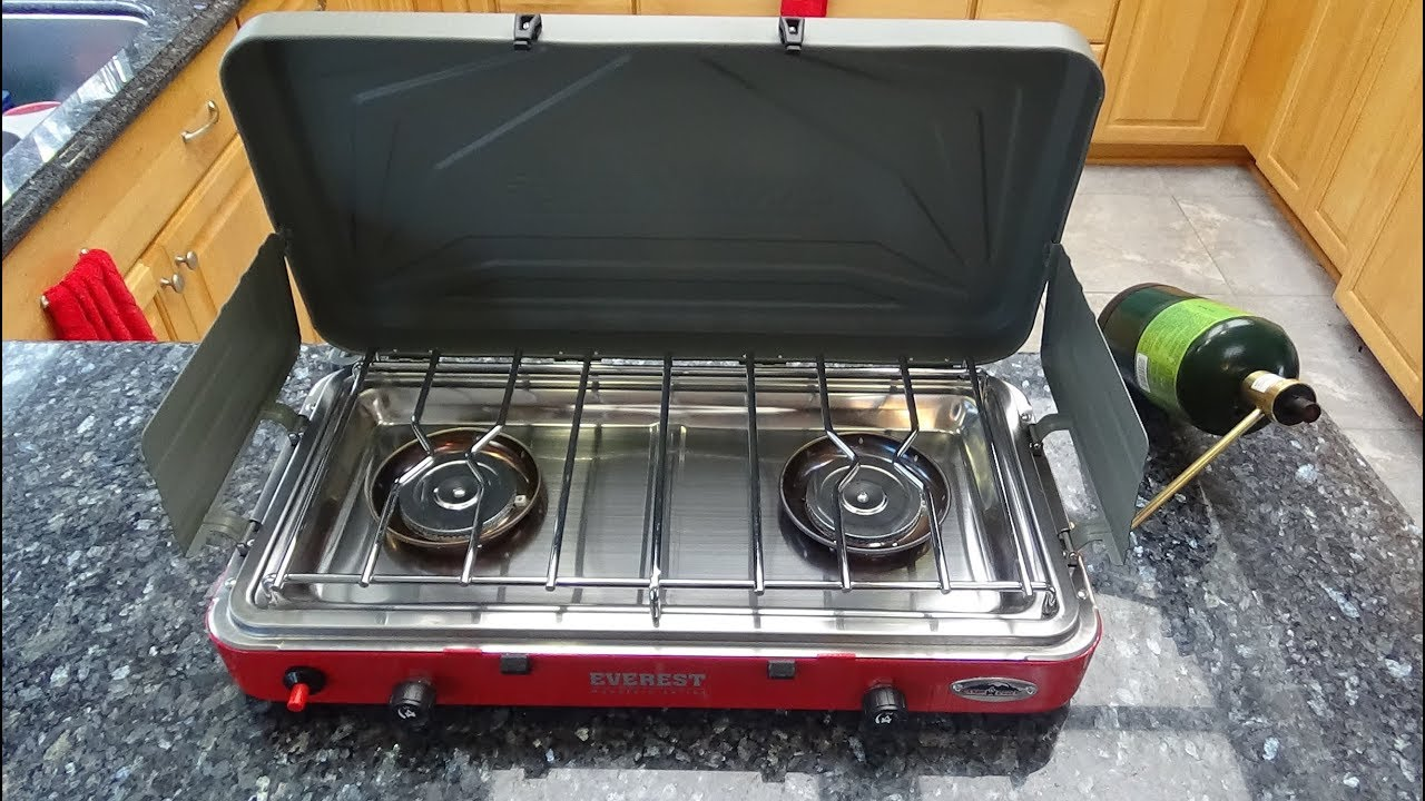 Multi Stansport 215-200 Two Burner Propane Camp Stove with Infrared Broiler
