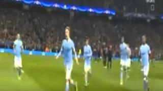الهدف الأول لمانشيستر سيتى دى بروين | مانشستر سيتى 1-0 باريس| إياب دورى الأبطال|12-4-2016