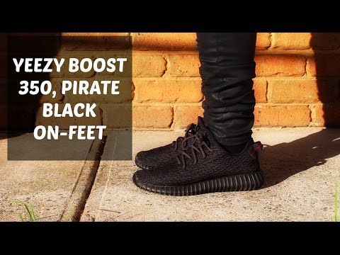 new arrivals 5f529 88e4a YEEZY BOOST 350 PIRATE BLACK ON-FEET - YouTube