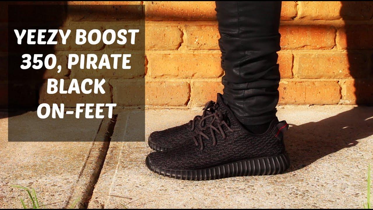 4819b3f0f7c35 yeezy boost 350 pirate black on feet adidas yeezy boost 350 pirate black on  wallbank lfc