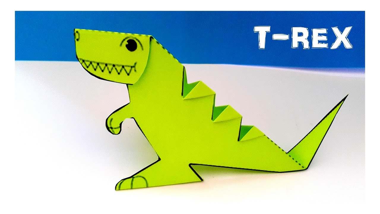 3d Dinazor T Rex Yapımı How To Make A 3d Dinosaur T Rex Youtube