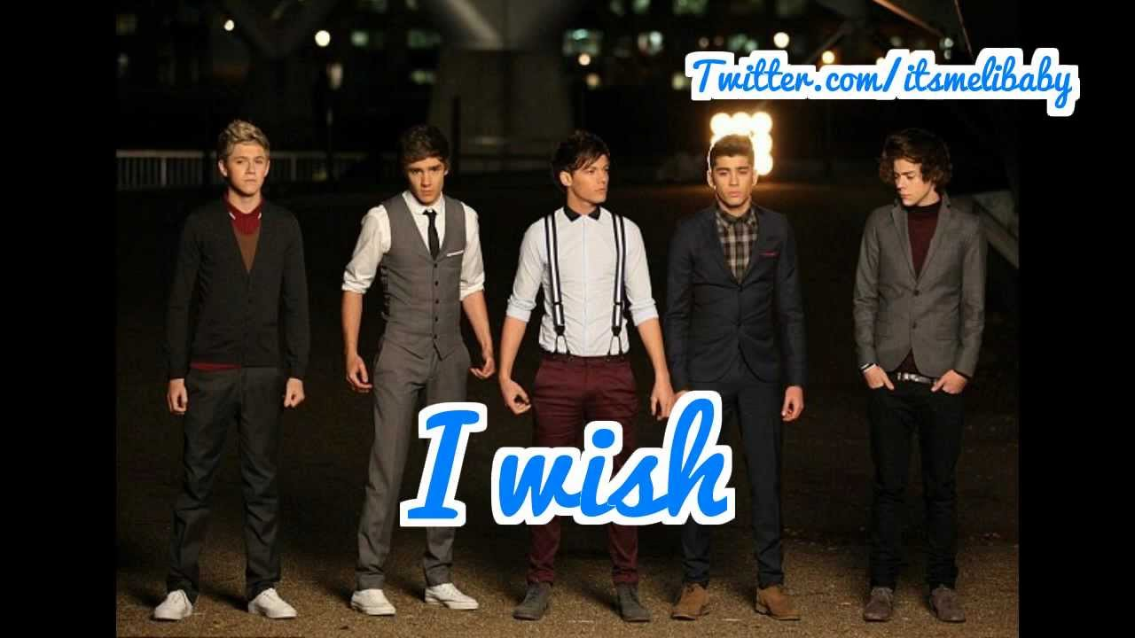 I Wish - One Direction Lyric Video (With Pictures) - YouTube