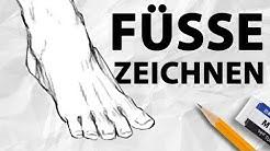 Füße RICHTIG zeichnen   Anatomie für Anfänger   Drawinglikeasir