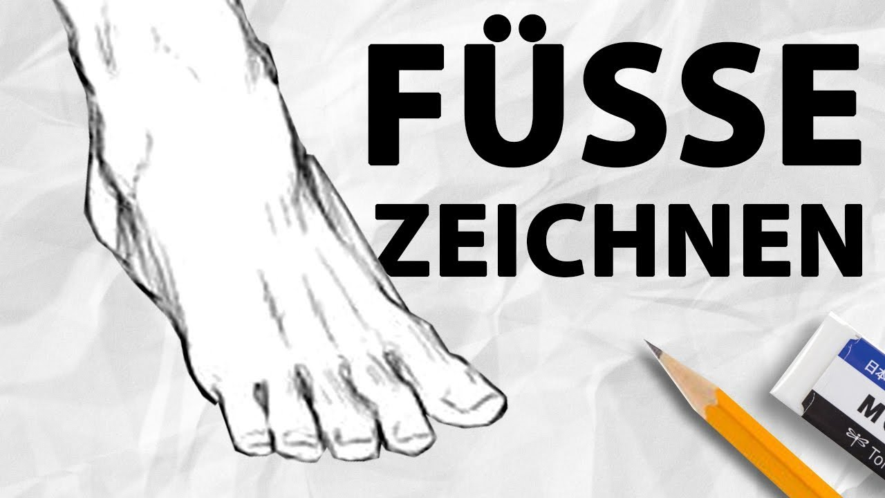 Füße RICHTIG zeichnen | Anatomie für Anfänger | Drawinglikeasir ...