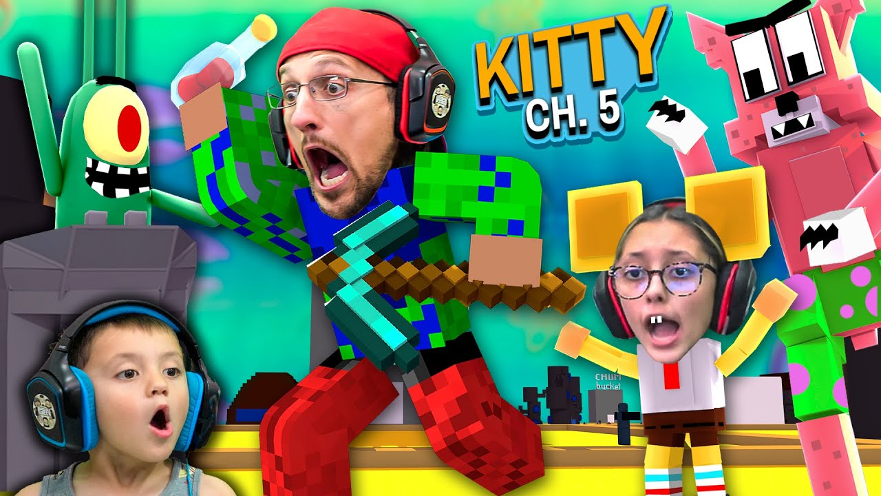 Download ROBLOX KITTY meets MINECRAFT SPONGEBOB!  FGTeeV Escapes Chapter 5 (1 Million Giveaway)