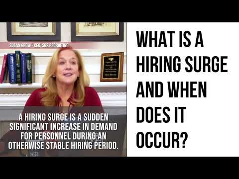 What is a hiring surge?