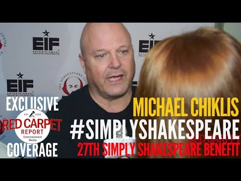 Michael Chiklis interviewed at 27th Annual Simply Shakespeare benefit at UCLA #SimplyShakespeare