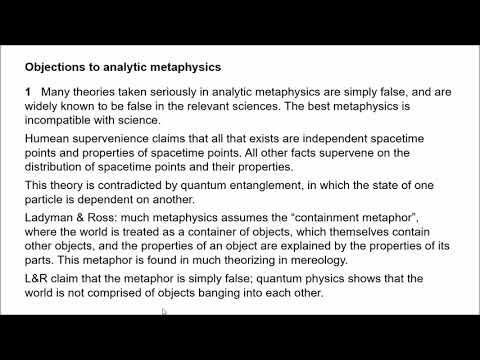 Naturalized Metaphysics 1