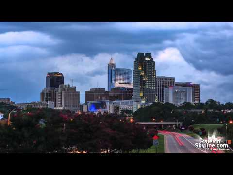 Downtown Raleigh Storm Timelapse - RaleighSkyline.com