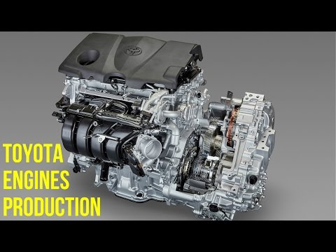 Toyota 4-Cylinder and 8-Cylinder Engines Production