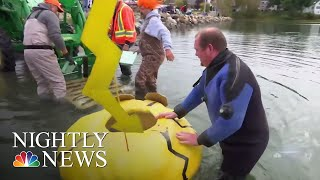 Maine Pumpkinfest Holds Annual Pumpkin-Boat Regatta | NBC Nightly News