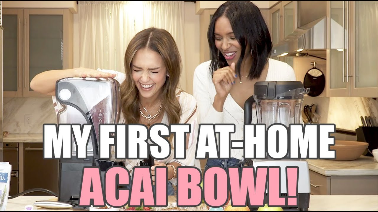 My First At Home Acai Bowl! - with Lizzy Mathis | Jessica Alba