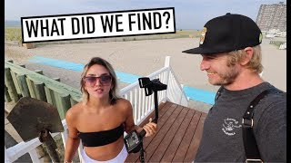 METAL DETECTING AFTER JULY 4TH BEACH CELEBRATION!