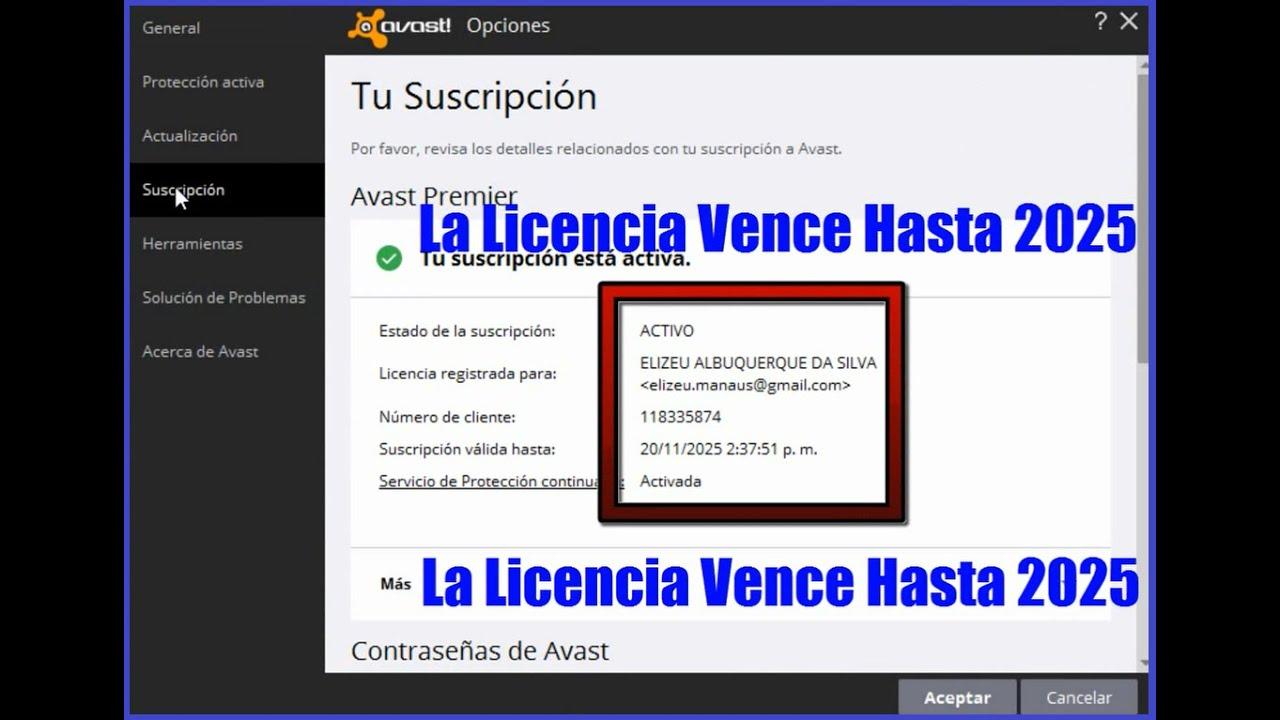 licencias avast 2016