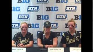 Purdue Softball: Big Ten Tournament Press Conference, 5/7/15