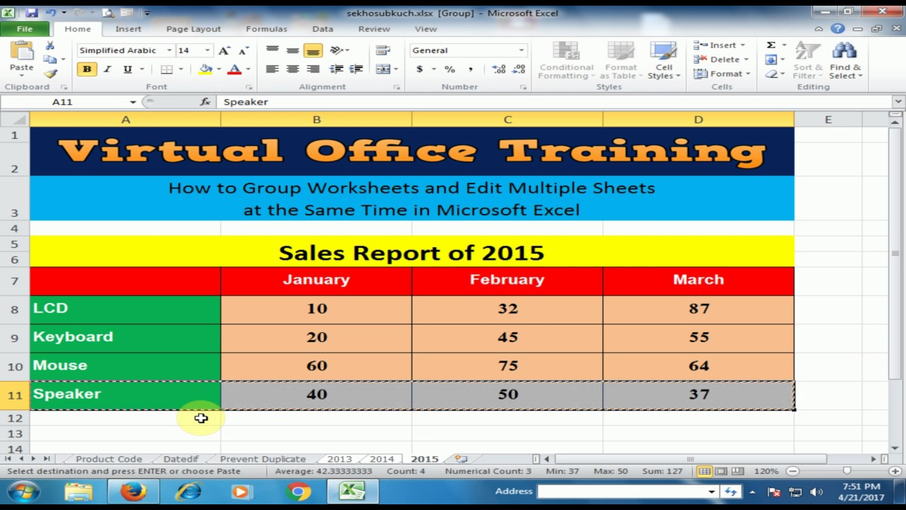 Excel Tricks How to Group Worksheets and Edit Multiple Sheets at – Excel Group Worksheets