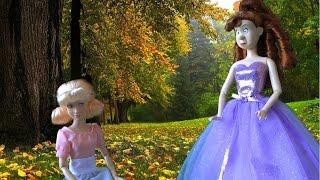 Золушка Мультфильм Куклами, Золушка Плачет а сестра хвастает ноым платьем, мультики с куклами Дисней