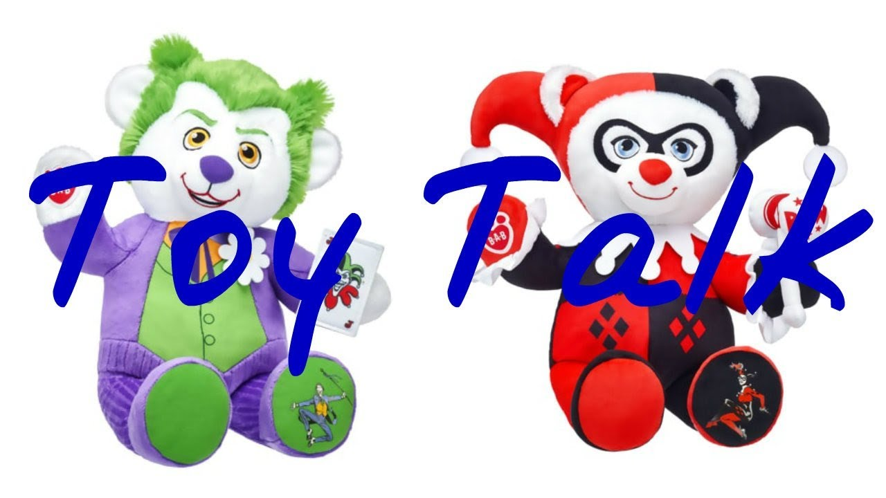 build a bear harley quinn joker plushies disney store. Black Bedroom Furniture Sets. Home Design Ideas