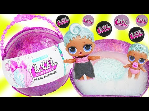 LOL Surprise Dolls Giant Ball - Lil Sisters Purple Pearl Surprise Shell in Bath Fizz, Customized DIY