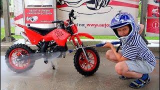 Funny Baby Washing Bike Ride on New Dirt Cross Bike Mini Power Wheel Pocket Bike