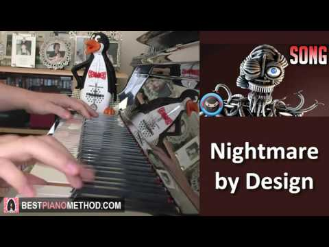 "FNAF ENNARD SONG - ""Nightmare By Design"" - TryHardNinja (Piano Cover by Amosdoll)"