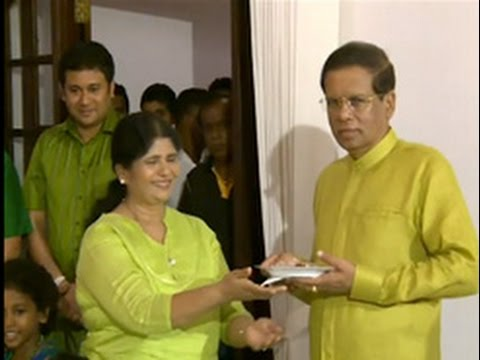 President celebrates Sinhala and Tamil New Year with family