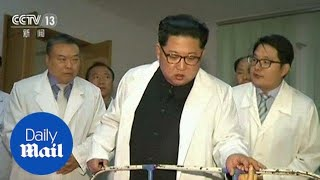 Kim Jong Un visits survivors of bus crash in Pyongyang hospital - Daily Mail