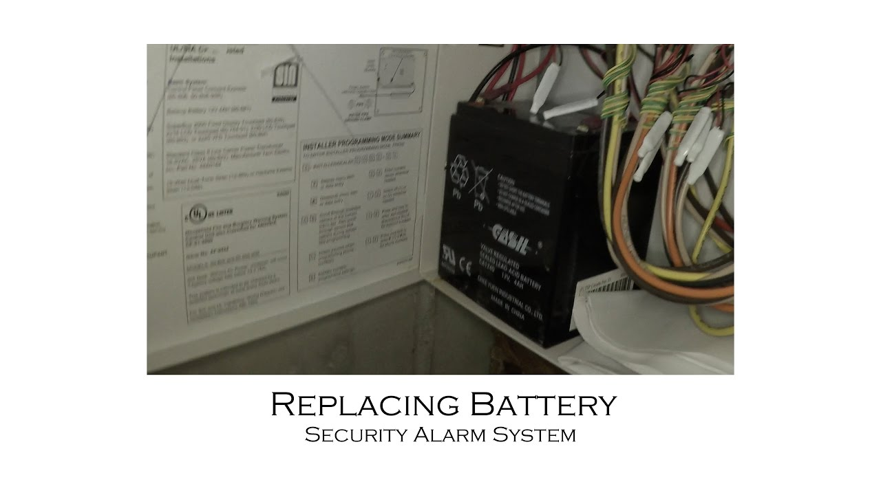 Low Battery in Alarm System and Battery Replacement / DSC Alarm Trouble  Code for Low Battery