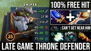REASON Why Sniper is the Best Throne Defender | Insane Free Hit Rapier + Scepter Machine Gun DotA 2