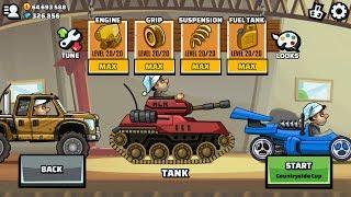 Hill Climb Racing 2 Tank Maxed Engine Grip Suspension Fuel Tank