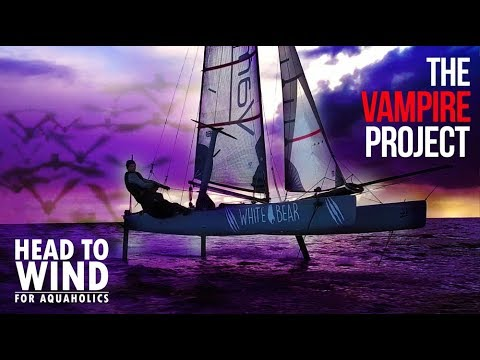 34.6 knots - Incredible Foiling Catamaran using Moth Foil technology  - The Vampire Project