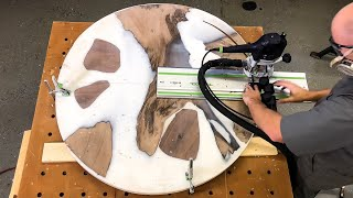 Round Epoxy Table Build — How to Woodworking — How to Make a Round Table