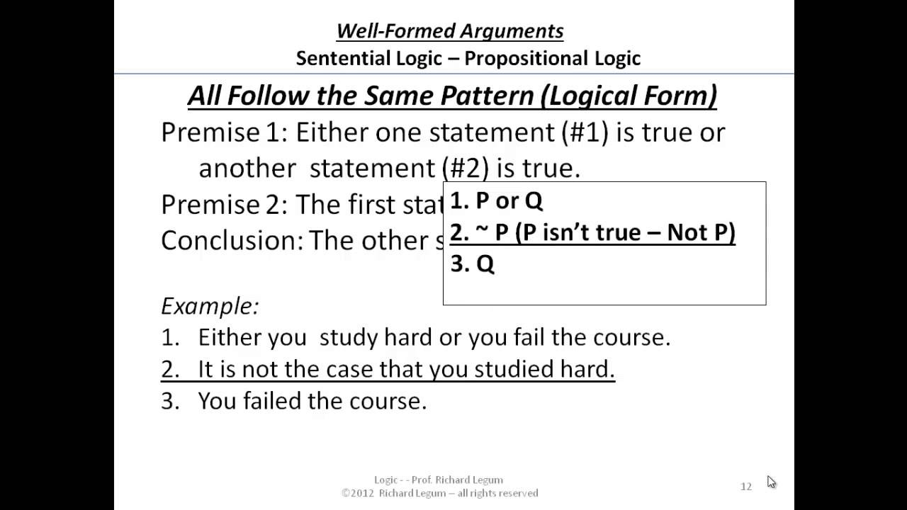 03-3-12-13 Logic Form - Patterns of Sentential or Propositional ...