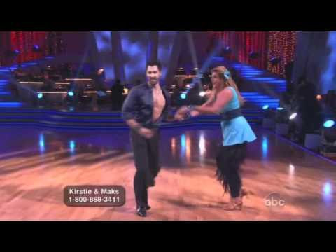 Kirstie Alley and Maksim Chmerkovskiy Dancing with the Stars instant salsa