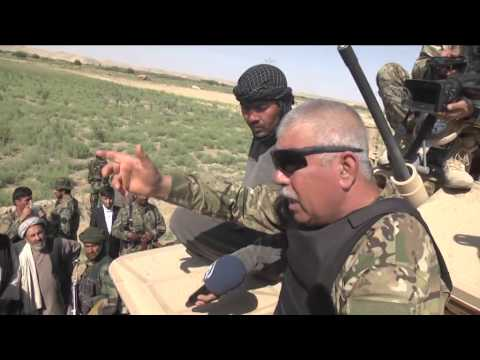 Afghan vice president Dostum attends army landing in Northen Afghanistan