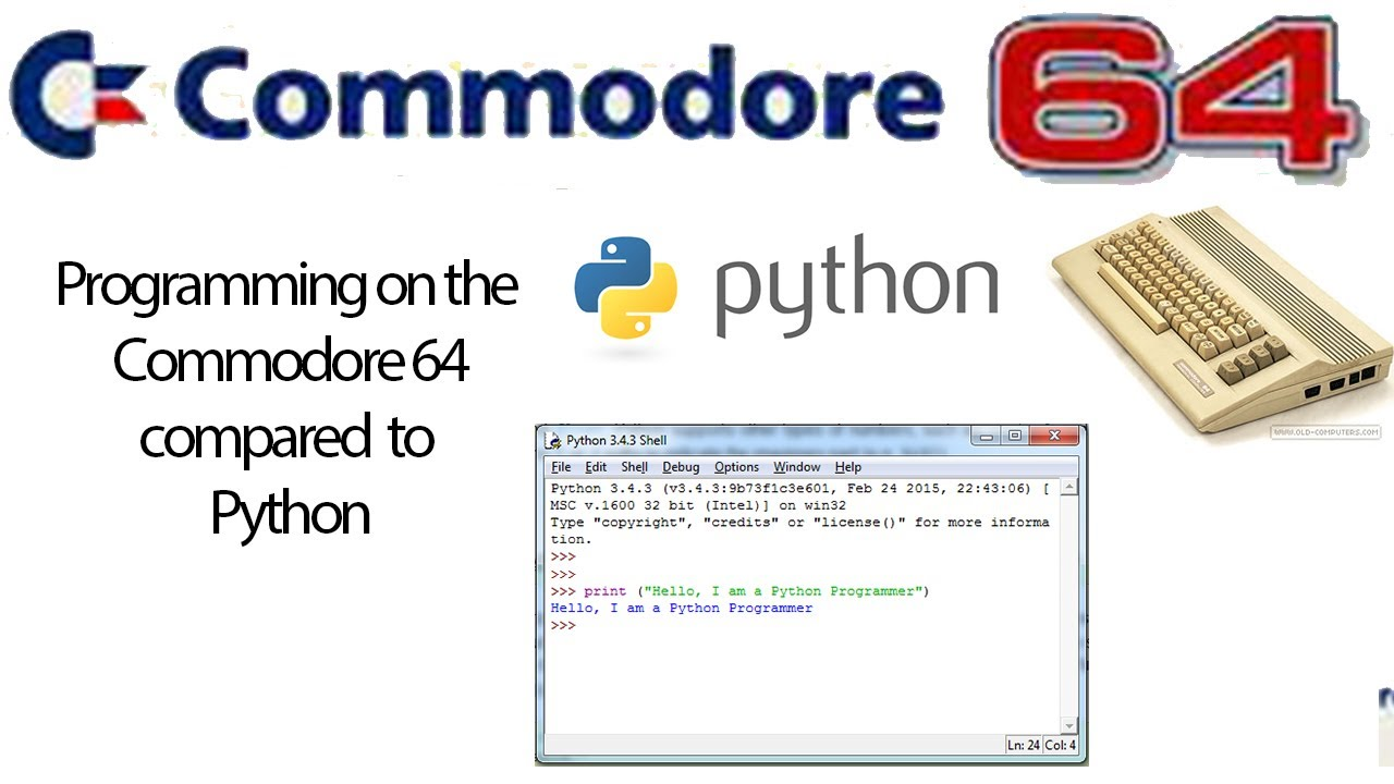 Programming on the Commodore 64 compared to Python