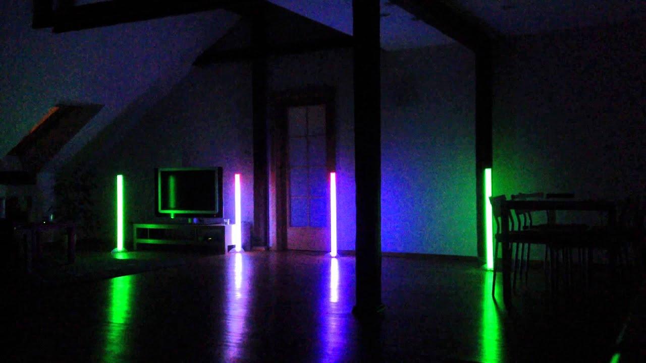 American DJ Colour LED Tube test  YouTube