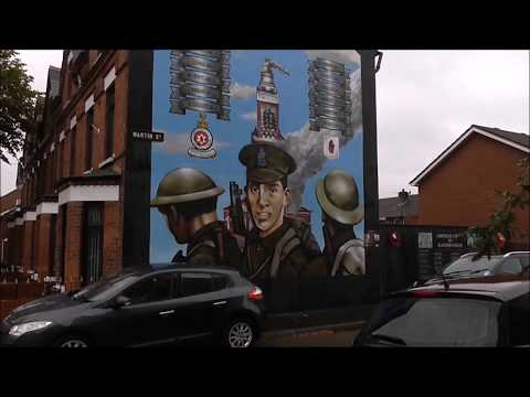 WW1 Wall Mural Tribute to Men From Gertrude St Belfast