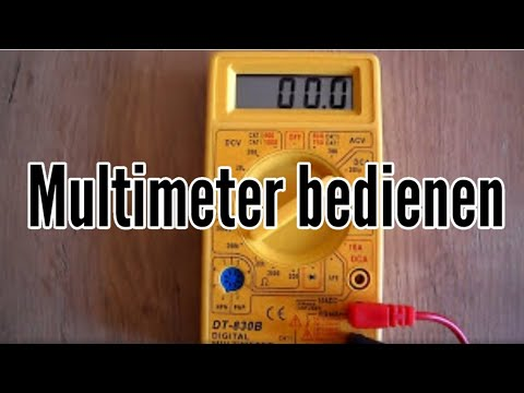 Anleitung Multimeter - Multimeter einstellen - Tutorial Multimeter bedienen