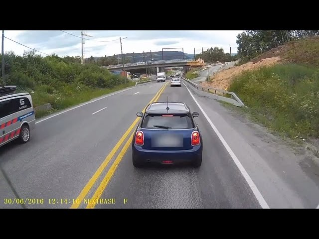 truck rear-ends road rager