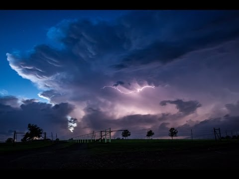Supercell Lightning - Eastern Oklahoma May 22nd 2011