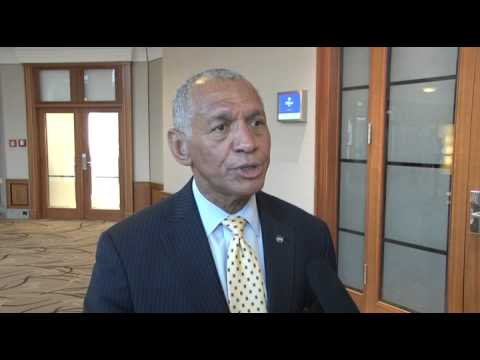 NASA Administrator Charles Bolden in interview during his trip to Germany