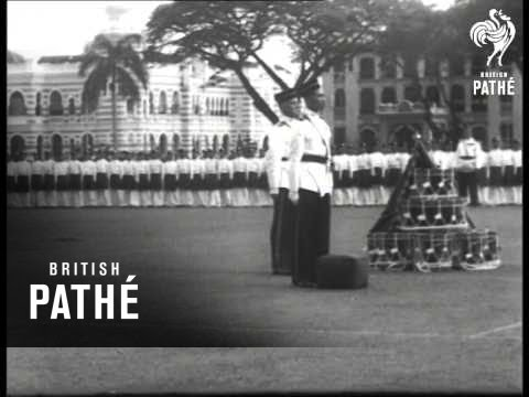 Presentation Of Colour To 4th Battalion Malaya Regiment (1953)
