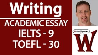 IELTS TOEFL Writing  Full essay (high score)