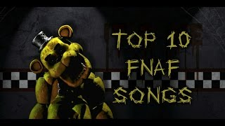 top 10 fnaf songs