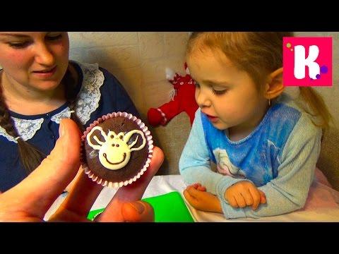 Готовим кексы обезьянки маффины в кекснице раскрашиваем шоколадом make monkey maffins