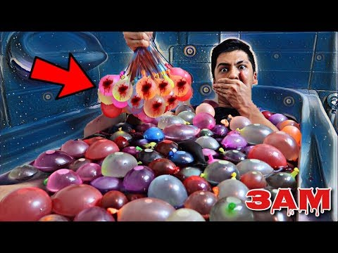 DO NOT FILL YOUR BATHTUB WITH WATER BALLOONS AT 3AM!! *OMG SO CREEPY*