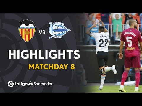 Highlights Valencia CF vs Deportivo Alaves (2-1)